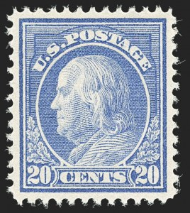 Sale Number 1150, Lot Number 1047, 1912-14 Washington-Franklin Issue (Scott 405-459)20c Ultramarine (419), 20c Ultramarine (419)