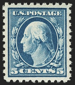 Sale Number 1150, Lot Number 1050, 1912-14 Washington-Franklin Issue (Scott 405-459)5c Blue (428), 5c Blue (428)