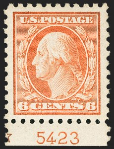 Sale Number 1150, Lot Number 1052, 1912-14 Washington-Franklin Issue (Scott 405-459)6c Red Orange (429), 6c Red Orange (429)