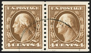 Sale Number 1150, Lot Number 1057, 1912-14 Washington-Franklin Issue (Scott 405-459)4c Brown, Coil (446), 4c Brown, Coil (446)
