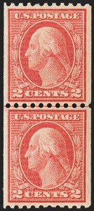Sale Number 1150, Lot Number 1058, 1912-14 Washington-Franklin Issue (Scott 405-459)2c Red, Ty. I, Coil (449), 2c Red, Ty. I, Coil (449)