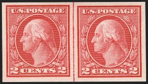 Sale Number 1150, Lot Number 1060, 1912-14 Washington-Franklin Issue (Scott 405-459)2c Carmine, Ty. I, Imperforate Coil (459), 2c Carmine, Ty. I, Imperforate Coil (459)
