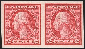 Sale Number 1150, Lot Number 1061, 1912-14 Washington-Franklin Issue (Scott 405-459)2c Carmine, Ty. I, Imperforate Coil (459), 2c Carmine, Ty. I, Imperforate Coil (459)