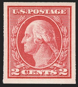 Sale Number 1150, Lot Number 1062, 1912-14 Washington-Franklin Issue (Scott 405-459)2c Carmine, Ty. I, Imperforate Coil (459), 2c Carmine, Ty. I, Imperforate Coil (459)
