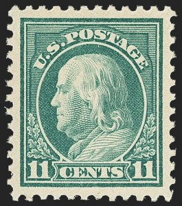 Sale Number 1150, Lot Number 1083, 1917-20 Issues (Scott 485-550)11c Light Green (511), 11c Light Green (511)