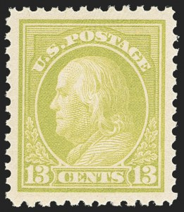 Sale Number 1150, Lot Number 1084, 1917-20 Issues (Scott 485-550)13c Apple Green (513), 13c Apple Green (513)