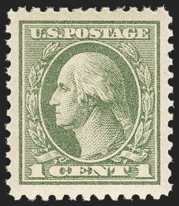 Sale Number 1150, Lot Number 1087, 1917-20 Issues (Scott 485-550)1c Gray Green (525), 1c Gray Green (525)