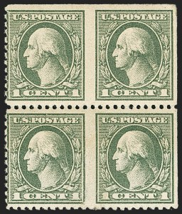 Sale Number 1150, Lot Number 1088, 1917-20 Issues (Scott 485-550)1c Gray Green, Horizontal Pair, Imperforate Between (525c), 1c Gray Green, Horizontal Pair, Imperforate Between (525c)