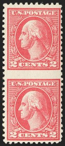 Sale Number 1150, Lot Number 1089, 1917-20 Issues (Scott 485-550)2c Carmine, Ty. Va, Vertical Pair, Imperforate Between (528g), 2c Carmine, Ty. Va, Vertical Pair, Imperforate Between (528g)