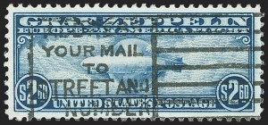 Sale Number 1150, Lot Number 1123, Air Post$2.60 Graf Zeppelin (C15), $2.60 Graf Zeppelin (C15)