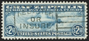 Sale Number 1150, Lot Number 1124, Air Post$2.60 Graf Zeppelin (C15), $2.60 Graf Zeppelin (C15)