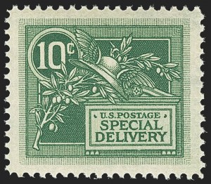 Sale Number 1150, Lot Number 1129, Special Delivery, Registration10c Green, Special Delivery (E7), 10c Green, Special Delivery (E7)