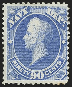 Sale Number 1150, Lot Number 1161, Officials: Agriculture thru Post Office1c-90c Navy (O35-O45), 1c-90c Navy (O35-O45)