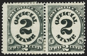 Sale Number 1150, Lot Number 1163, Officials: Agriculture thru Post Office2c Post Office, Double Impression (O48a), 2c Post Office, Double Impression (O48a)