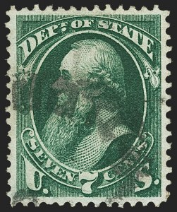 Sale Number 1150, Lot Number 1178, Officials: State Department7c State (O61), 7c State (O61)