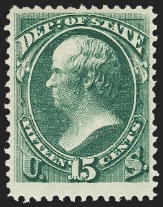 Sale Number 1150, Lot Number 1180, Officials: State Department15c State (O64), 15c State (O64)