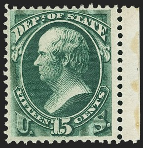 Sale Number 1150, Lot Number 1181, Officials: State Department15c State (O64), 15c State (O64)