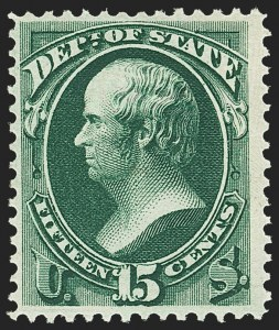 Sale Number 1150, Lot Number 1182, Officials: State Department15c State (O64), 15c State (O64)