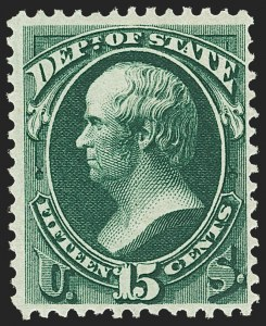 Sale Number 1150, Lot Number 1183, Officials: State Department15c State (O64), 15c State (O64)