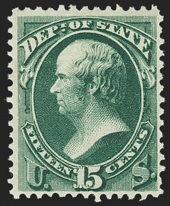 Sale Number 1150, Lot Number 1184, Officials: State Department15c State (O64), 15c State (O64)