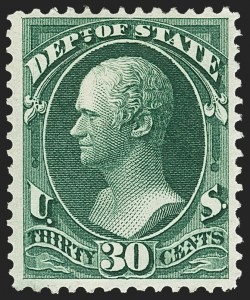 Sale Number 1150, Lot Number 1187, Officials: State Department30c State (O66), 30c State (O66)