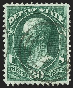 Sale Number 1150, Lot Number 1188, Officials: State Department30c State (O66), 30c State (O66)