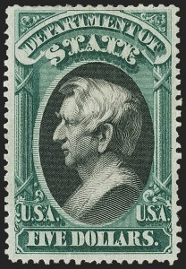 Sale Number 1150, Lot Number 1190, Officials: State Department$5.00 State (O69), $5.00 State (O69)
