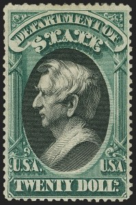Sale Number 1150, Lot Number 1192, Officials: State Department$20.00 State (O71), $20.00 State (O71)
