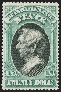 Sale Number 1150, Lot Number 1193, Officials: State Department$20.00 State (O71), $20.00 State (O71)