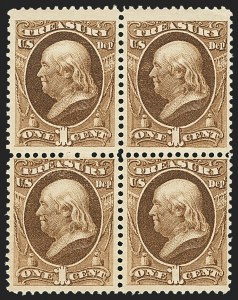 Sale Number 1150, Lot Number 1195, Officials: Treasury thru War1c Treasury (O72), 1c Treasury (O72)