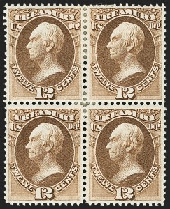 Sale Number 1150, Lot Number 1204, Officials: Treasury thru War12c Treasury (O78), 12c Treasury (O78)