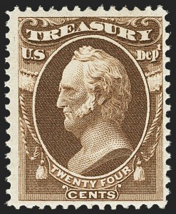 Sale Number 1150, Lot Number 1205, Officials: Treasury thru War24c Treasury (O80), 24c Treasury (O80)