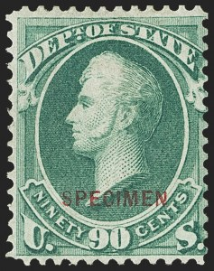 Sale Number 1150, Lot Number 1230, Officials: Special Printings1c-90c State, Specimen Ovpt. (O57S-O67S), 1c-90c State, Specimen Ovpt. (O57S-O67S)
