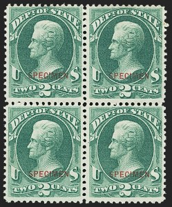 Sale Number 1150, Lot Number 1231, Officials: Special Printings2c State, Specimen Ovpt. (O58S), 2c State, Specimen Ovpt. (O58S)