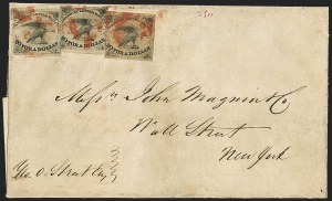 Sale Number 1150, Lot Number 1311, Local Posts and Independent Mails: American Letter thru Penny Express Co.American Letter Mail Co., 5c Black (5L1), American Letter Mail Co., 5c Black (5L1)