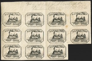 Sale Number 1150, Lot Number 1315, Local Posts and Independent Mails: American Letter thru Penny Express Co.Broadway Post Office, New York N.Y., (1c) Black (26L2), Broadway Post Office, New York N.Y., (1c) Black (26L2)