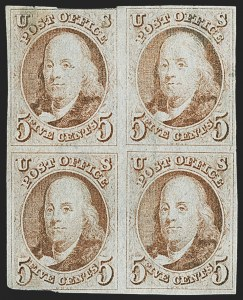 Sale Number 1150, Lot Number 515, 1847 Issue (Scott 1-2)5c Red Brown (1), 5c Red Brown (1)