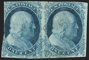 Sale Number 1150, Lot Number 536, 1c 1851-56 Issue (Scott 5-9)1c Blue, Ty. I-Ib (5-5A), 1c Blue, Ty. I-Ib (5-5A)