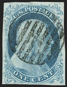 Sale Number 1150, Lot Number 538, 1c 1851-56 Issue (Scott 5-9)1c Blue, Ty. Ib (5A), 1c Blue, Ty. Ib (5A)