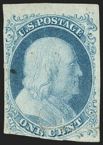Sale Number 1150, Lot Number 539, 1c 1851-56 Issue (Scott 5-9)1c Blue, Ty. Ib (5A), 1c Blue, Ty. Ib (5A)
