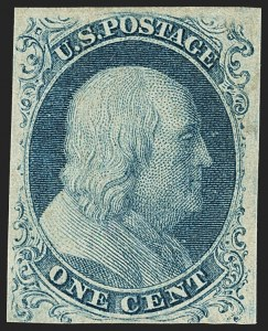 Sale Number 1150, Lot Number 541, 1c 1851-56 Issue (Scott 5-9)1c Blue, Ty. Ic (6b), 1c Blue, Ty. Ic (6b)
