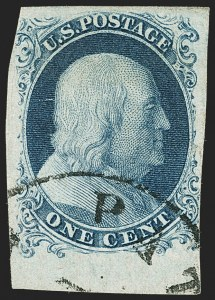 Sale Number 1150, Lot Number 542, 1c 1851-56 Issue (Scott 5-9)1c Blue, Ty. Ic (6b), 1c Blue, Ty. Ic (6b)