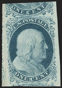Sale Number 1150, Lot Number 543, 1c 1851-56 Issue (Scott 5-9)1c Blue, Ty. II (7), 1c Blue, Ty. II (7)