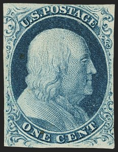 Sale Number 1150, Lot Number 546, 1c 1851-56 Issue (Scott 5-9)1c Blue, Ty. III (8), 1c Blue, Ty. III (8)