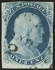 Sale Number 1150, Lot Number 548, 1c 1851-56 Issue (Scott 5-9)1c Blue, Ty. III, Position 99R2 (8), 1c Blue, Ty. III, Position 99R2 (8)
