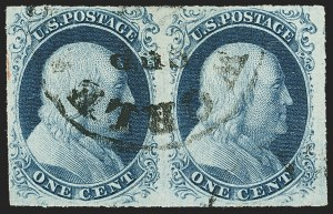 Sale Number 1150, Lot Number 550, 1c 1851-56 Issue (Scott 5-9)1c Blue, Ty. III (8), 1c Blue, Ty. III (8)