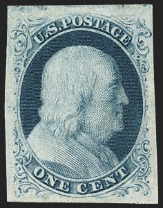 Sale Number 1150, Lot Number 551, 1c 1851-56 Issue (Scott 5-9)1c Blue, Ty. IIIa (8A), 1c Blue, Ty. IIIa (8A)