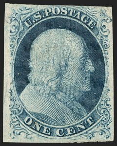 Sale Number 1150, Lot Number 552, 1c 1851-56 Issue (Scott 5-9)1c Blue, Ty. IIIa (8A), 1c Blue, Ty. IIIa (8A)