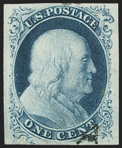 Sale Number 1150, Lot Number 554, 1c 1851-56 Issue (Scott 5-9)1c Blue, Ty. IIIa (8A), 1c Blue, Ty. IIIa (8A)