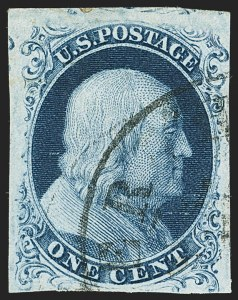 Sale Number 1150, Lot Number 555, 1c 1851-56 Issue (Scott 5-9)1c Blue, Ty. IIIa (8A), 1c Blue, Ty. IIIa (8A)